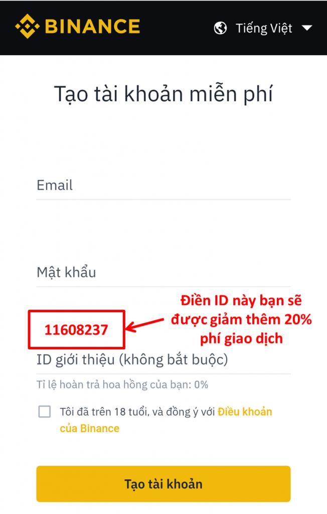Đăng ký binance id la gì đánh gia vncrypto.com