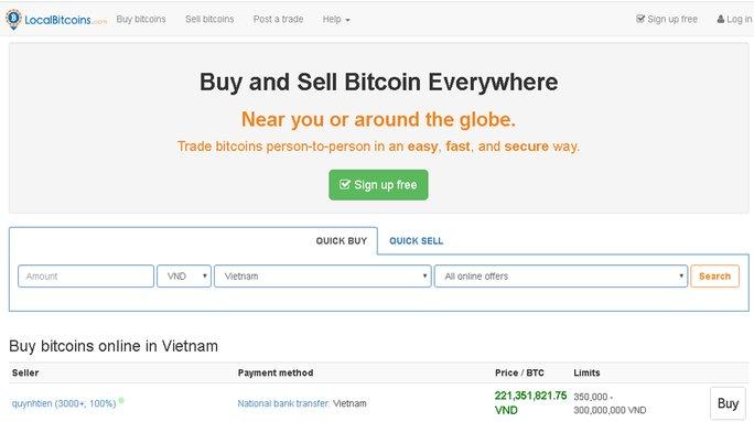 Trao đổi LocalBitcoins so sánh đánh giá hướng dẫn mua Bitcoin vncrypto.com