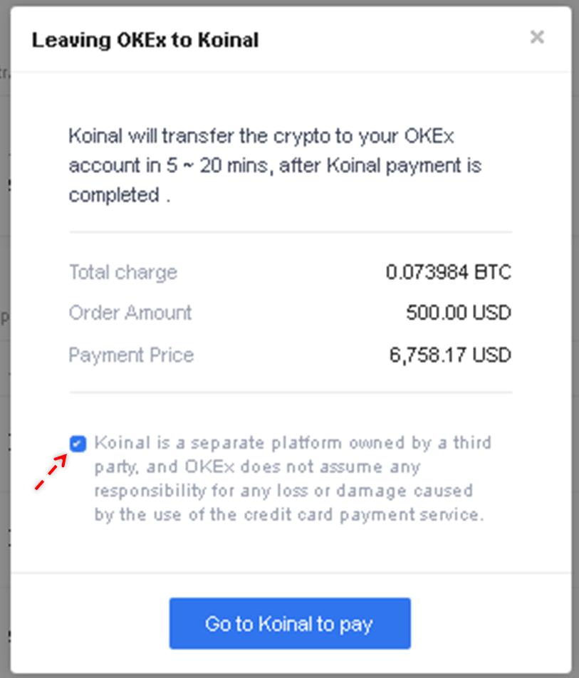 Mua bitcoin hay tiền điện tử (crypto) bằng thẻ tín dụng- mua trên OKEx 3