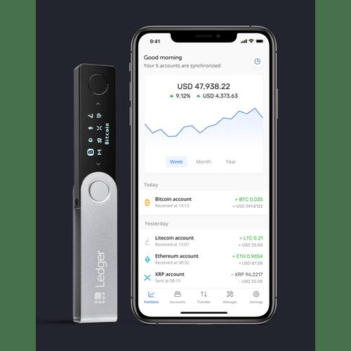 Ví Ledger Nano X cho crypto bitcoin di động iOS và android tốt nhất-vncrypto.com