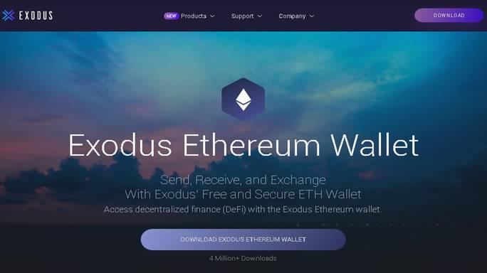 Ví ethereum là gì? Hướng dẫn chọn ví ethereum phổ biến Exodus- vncrypto.com