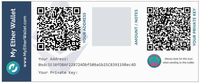 Ví ethereum là gì? Hướng dẫn chọn ví ethereum phổ biến myetherwallet paper-vncrypto.com