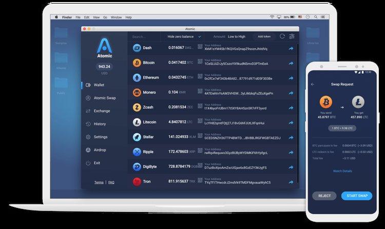 Atomic desktop wallet ví crypto bitoin máy tính để bàn tốt nhất-vncrypto.com